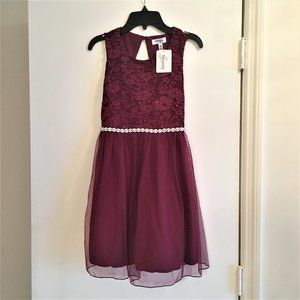 NWT Speechless  Girls Size 10 Lace Tulle Dress